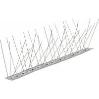 Banda antipasari cu suport din inox, 1 metru, 60 tepi