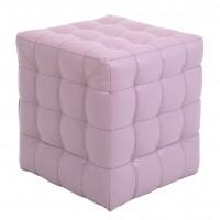 Taburet Bump tip cub, patrat, imitatie piele, mov, 38 x 38 x 41 cm