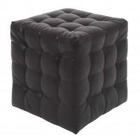 Taburet Bump tip cub, patrat, imitatie piele, wenge, 38 x 38 x 41 cm