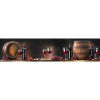Panou decorativ bucatarie Splashback, compozit, luminescent, SPB 081, bar, 2600 x 750 x 3 mm