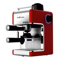 Espressor cafea Samus Caffecino, cafea macinata, 3.5 bar, 800 W, capacitate 0.24 l, rosu + gri