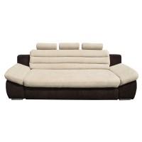 Canapea extensibila 3 locuri Wog, crem + maro inchis, 260 x 100 x 105 cm, 4C