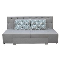 Canapea extensibila 3 locuri Cameleon, cu lada, gri, 230 x 100 x 105 cm, 4C