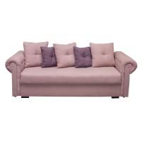 Canapea extensibila 3 locuri Saturn, cu lada, roz pal + lila, 245 x 105 x 75 cm, 3C