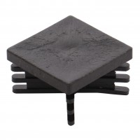 Capac nylon pentru teava patrata, negru, 20 x 20 mm, 20 buc