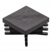 Capac nylon pentru teava patrata, negru, 30 x 30 mm, 20 buc