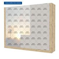 Carcasa pentru dulap dormitor Verona D5, sherwood, 247 x 53 x 205 cm, 4C