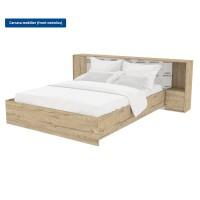 Carcasa pentru pat dormitor Verona, matrimonial, cu lada, sherwood, 160 x 200 cm, 5C