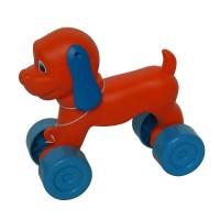 Jucarie de tras, pentru copii, catel Puppy, din plastic, diverse culori, 23 x 12 x 22 cm