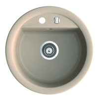 Chiuveta bucatarie compozit magranit Paxton nisipiu bej rotunda diametru 51 cm