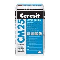 Adeziv super - flexibil pentru placari critice Ceresit CM 25, interior / exterior, alb, 25 kg
