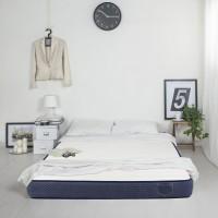 Saltea pat Bedora Polar Jeans, cu spuma poliuretanica + memory si cocos, fara arcuri, 160 x 200 cm