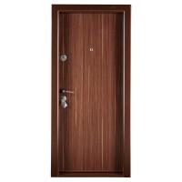Usa metalica pentru exterior Megadoor Compact 1, dreapta, nuc, 200 x 88 cm