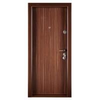 Usa metalica pentru exterior Megadoor Compact 1, stanga, nuc, 200 x 88 cm
