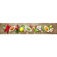 Panou decorativ bucatarie Splashback, compozit, luminescent, SPB 066, condimente, 4000 x 750 x 5 mm