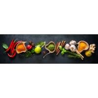 Panou decorativ bucatarie Splashback, compozit, luminescent, SPB 075, condimente, 4000 x 600 x 3 mm