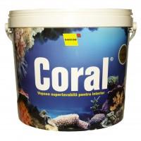 Vopsea superlavabila interior, Coral, alba, 17 L