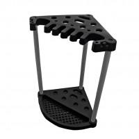 Suport pentru unelte de gradina Curver 5001071, negru, 56.5 x 56.5 x 53 cm