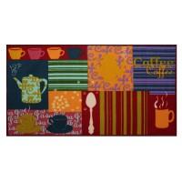 Covoras bucatarie Davo Pro Coffee nylon dreptunghiular multicolor 67 x 120 cm