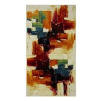 Covor living / dormitor Oriental Weavers Malaga E 8022/CE8 polipropilena frize dreptunghiular multicolor 80 x 140 cm