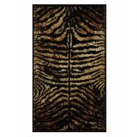 Covor living / dormitor Oriental Weavers Carrera K 139/CP5 polipropilena heat-set dreptunghiular maro 80 x 140 cm