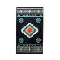 Covor living / dormitor oriental Weavers Sonic B 560/IA polipropilena heat-set dreptunghiular albastru 160 x 235 cm