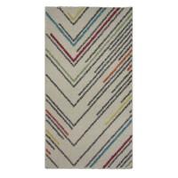 Covor living / dormitor McThree Swing 8690 3P01 polipropilena frize, heat-set dreptunghiular crem 120 x 170 cm