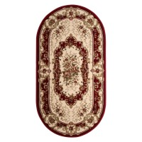 Covor living / dormitor Carpeta Atlas 35482-41335 polipropilena heat-set oval bordo 80 x 150 cm