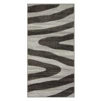 Covor living / dormitor Sintelon Vegas Home 04BWB polipropilena frize, heat-set dreptunghiular gri 80 x 150 cm