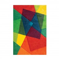 Covor living / dormitor Sintelon Vegas Pop 22AKA polipropilena frize, heat-set dreptunghiular multicolor 120 x 170 cm