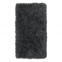 Covor living / dormitor Wuhan Chip Shaggy V242 poliester dreptunghiular negru 140 x 200 cm