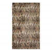 Covor living / dormitor Chip THT-191207 poliester dreptunghiular maro tigru 120 x 180 cm