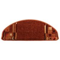 Covoras scara Ax Perpetuum Bombay poliamida caramiziu 26 x 65 cm