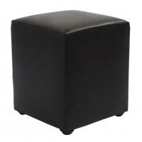 Taburet Cube tip cub, fix, patrat, imitatie piele, wenge, 38 x 38 x 45 cm, 1C