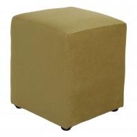 Taburet Cube tip cub, fix, patrat, stofa, verde, 38 x 38 x 45 cm, 1C
