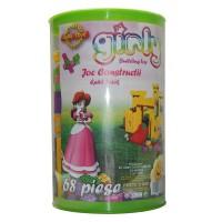 Jucarie creativa, pentru copii, cuburi de constructie, din plastic, set 68 de piese