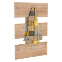 Cuier hol pentru perete Next 1, cu 8 agatatori, stejar bardolino, 672 x 32 x 920 mm, 1C
