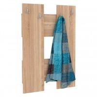 Cuier hol pentru perete Next 2, cu 4 agatatori, stejar bardolino, 672 x 32 x 922 mm, 1C