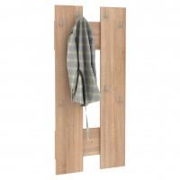 Cuier hol pentru perete Next 4, cu 8 agatatori, stejar bardolino, 672 x 32 x 1426 mm, 1C