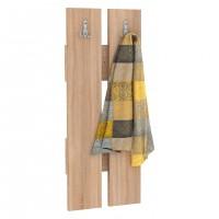 Cuier hol pentru perete Next 6, cu 2 agatatori, stejar bardolino, 292 x 32 x 922 mm, 1C