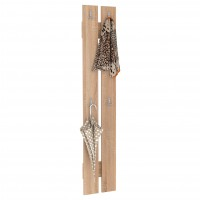 Cuier hol pentru perete Next 8, cu 4 agatatori, stejar bardolino, 292 x 32 x 1426 mm, 1C