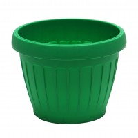 Ghiveci din plastic Dalia, verde D 18 cm