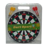 Jucarie de indemanare, pentru copii, darts cu sageti mic, din pluta, 33 x 2 37 cm