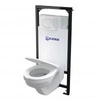 Pachet rezervor apa, incastrat, Kadda, 51 x 117.6 cm, clapeta de actionare, vas WC, capac si izolatie incluse