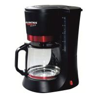 Cafetiera Albatros Delicia, 680 W, 1.2 l, capacitate 10 cesti, functie antipicurare, negru + rosu