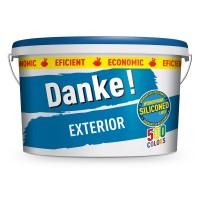 Vopsea lavabila exterior Danke, alba, 8.5 L