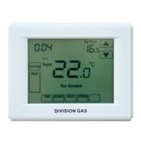 Termostat de ambient pentru centrala, cu fir, Division Gas DG3000, programabil, tactil, 2 x AA, 230 V
