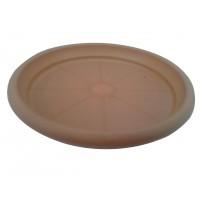 Farfurie ghiveci Diana, plastic, rotund, maro, D 13.8 cm