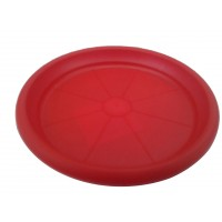Farfurie ghiveci Diana, plastic, rotund, rosu, D 13.8 cm