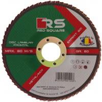 Disc lamelar frontal, pentru otel / inox, Red Square, 125 x 22 mm, granulatie 40